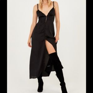 For Love And Lemons Isabella Button Up Maxi Dress